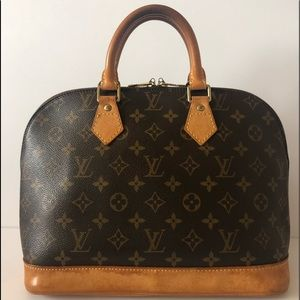 Authentic Louis Vuitton Alma Monogram
